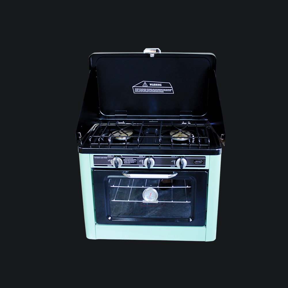 Camping Gas Stove Oven Combo